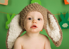 Baby Bunny Hat Baby Beanie Animal Hat - Crochet Baby Brown Hat Bunny Beanie Baby Hat Bunny Ears Toddler Photo Pro