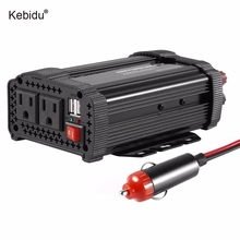 Kebidu 400W DC12V to AC110V Car Power Inverter Converter Adapter with Car Charging 50Hz for TV DVD Player Black(China)