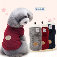 Dog Sweaters Autumn Winter Cute Pet Sweater for Cat Small Dogs Multi-Colors Basic Dog Coat Fashion Puppy Clothing for Pitbulls(China)