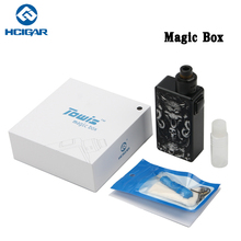 Original E Cigarette HCigar ToWis MAGIC BOX Mechanical Squonk box mod Vape Fit Maze 1.1 BF RDA Tank(China)