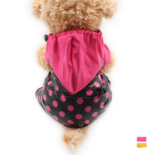 Armi store Dot Pattern Four Legs Dog Raincoats Dogs Hat Windproof Waterproof Raincoat 6161003 Pet Clothes Supplies XS S M L XL