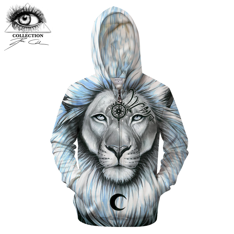 lion galaxy By Pixie coldArts 3D Print Hoodies Men Casual Sweatshirt Tracksuit Pullover Jacket Streatwear ZipperCoat New Hooded
