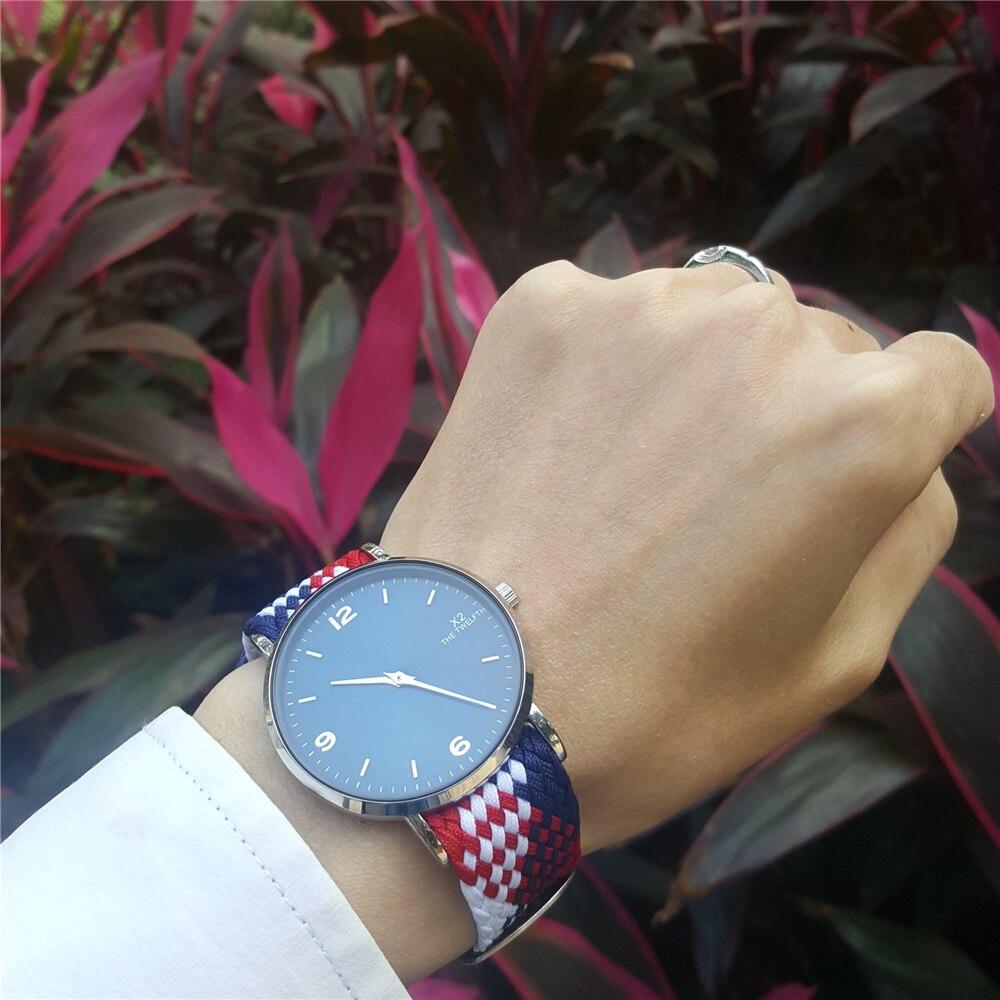 Reloj Hombre 2017 Watch Men Fashion Perlon Nylon Strap Leisure Sports Watches Mens Quartz Watch X2 THE TWELFTH Brand Relojes<br><br>Aliexpress