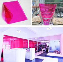 big discount decorate home 50cm600cm High Quality Pink Building glass Decorative Solar window film tint Heat insulation films(China)