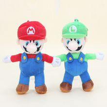 16cm Super Mario Bros Plush pendant doll toys mario luigi plush & stuffed keychain kids toys(China)