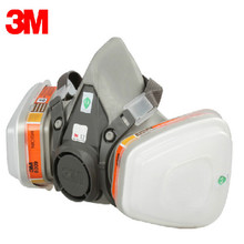3M 6200 6009 Mercury Half Face Mask Respirator Mask Organic Vapor Chlorine Acid Gas Cartridge Vapor chemical Reusable mask