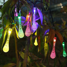 LMID 4.8M 20LEDs Solar String Lights Colorful Raindrop Waterproof Christmas Holiday Lighting Outdoor Garden Decoration  Lamps