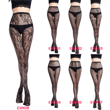 Buy Black Elastic Magical Stockings Sexy Women Tights Skinny Legs Pantyhose Prevent Hook Silk Women Stocking Collant Femme EWK01-07