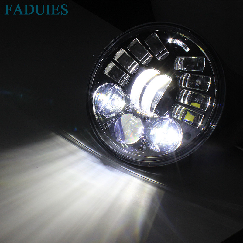 FADUIES 2018 New Motos Accessories 5.75 Adaptive Headlight Motorcycle for Harley 5-34 Motorcycle Black Projector Daymaker (7)