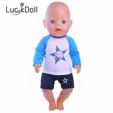 New arriving Fashion sports jersey fit 43 cm Baby Born zapf, Children best Birthday Gift (Only clothes)
