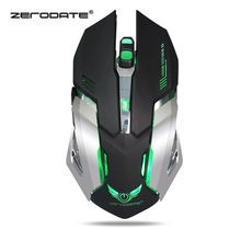 ZERODATE X70 Dual-mode Gaming Mouse 2400DPI Wireless Mouse Slient Button Computer Mouse Mice Cable Mouse High Quality