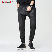 GustOmerD 2017 New Brand Fashion Loose Fitness High Quality Pants Men Casual Printing Sporting Pants Men Hip Hop Harem Pants