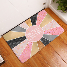 Homing Dustproof Thin Flannel Modern Kitchen Floor Mats Character Words Geometric Carpets Durable Bedroom Foot Pad Home Decor