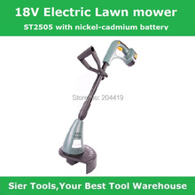 ST2505 cordless Lawn Mower/Electric Lawnmower/Electric grass timmer/18V Nickel-cadmum rechargeable battery