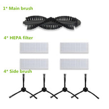 4* Robotic Dust HEPA Filter + 4*Side Brush + 1*Main Brush ILIFE A8 A4s Robot Vacuum Cleaner Accessories Parts