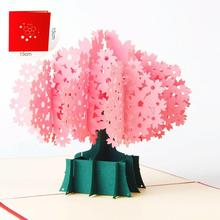 Creative 3D Greeting Card Pop Up Wedding Invitation Lover Birthday Cards Postercard Christmas Cards Beautiful Happy Sale(China)