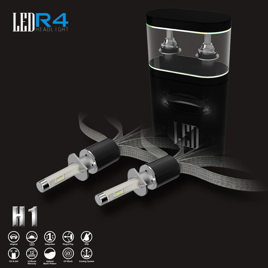 Super White R4 80W 9600Lm White 6000K H1 Automotive Headlamp Car LED Headlight Kit Replace Light Single Beam Copper Cooling<br><br>Aliexpress