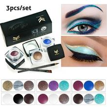 3Pcs/Set Brand Eyes Makeup Color Eyeliner Gel Shimmer Eye Liner Shadow Combination Cream Waterproof Lasting Eye Cosmetic Y1-5