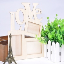 2016 New fashional hot sale Hollow Love Design  ultra light accessories DIY wooden love photo frame sweet Decor