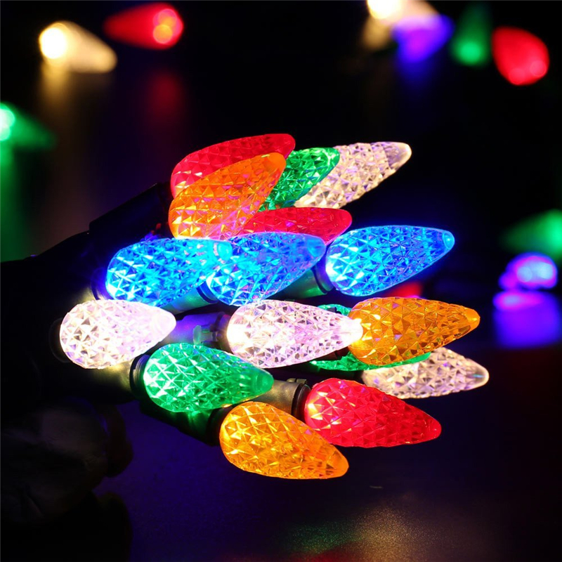 Faceted C5 LED Christmas Lights (5)