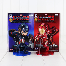 12cm Captain America Civil War Captain America Iron Man MK46 PVC Action Figure Toy Collection Model Toy(China)