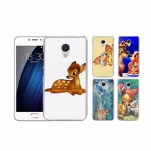 Bambi and Thumper transparent clear hard case cover for MEIZU M3 M3 note M5 M5 note M5X  U10  MX5Pro MX6Pro