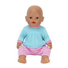 Doll Clothes 43cm Baby Born Zapf Doll Reborn Babies 17 Inch Doll Accessories(China)