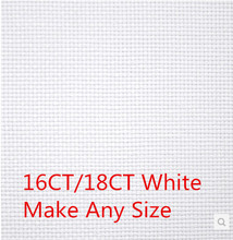 Factory Shop Fabric 16CT OR 18CT  Aida Cloth Cross Stitch Canvas 150X150cm Or Make Any Size