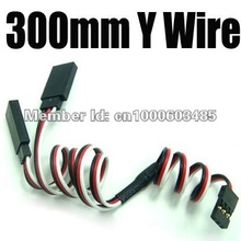 factory price 100pcs 300MM RC Servo Y Extension Wire Cable FOR Futaba JR