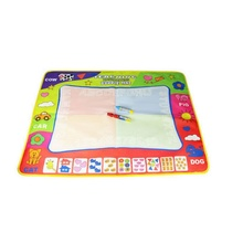 80X60cm Kids Learning Toy Water Drawing Painting Writing Toys Doodle Aquadoodle Mat Magic Drawing Board +2 Water Drawing Pen Y13(China)