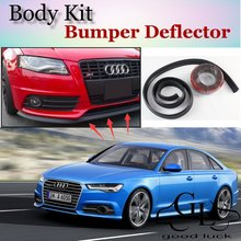 Bumper Lip Lips For Audi A6 S6 RS6 2004~2015 / Car Lip Shop Spoiler Scratch Proof Adhesive / Car Lip Skirt Body Kit + Strip
