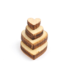 Lot 100pcs 4 Sizes Mixed Rustic Wooden Love Heart Wedding Table Scatter Decoration Craft Accessories Party Home Decor