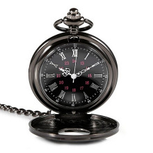 New Retro Classic Pocket Watch Antique Steam Punk Quartz Necklace Pendant Watch ~M24