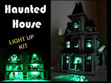 LED light up kit  for lego 10228 and LEPIN 16007 City Monster Fighter Haunted House Model (Building bricks set not included)