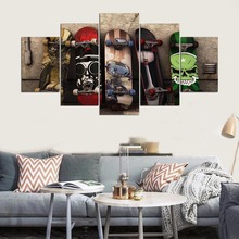 HD print 5 piece canvas painting Graffiti Skateboard painting for living room posters and prints free shipping XA-2114A(China)