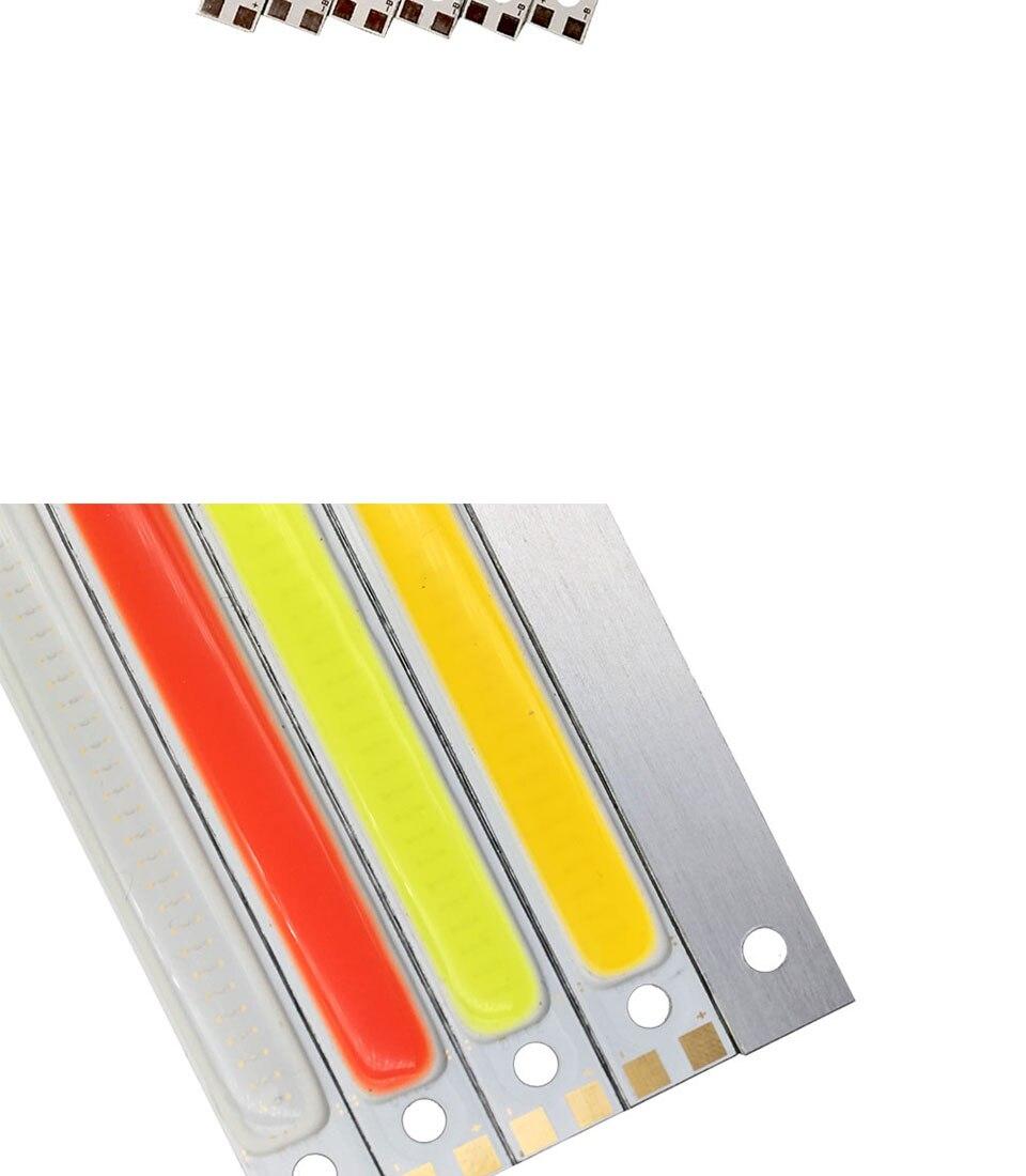 120mm 4.72in LED Bar Light Strip COB Bulb 12V 7W 10W LED Lamp Green Blue Red White Emitting Colors 12010mm COB Chip (3)