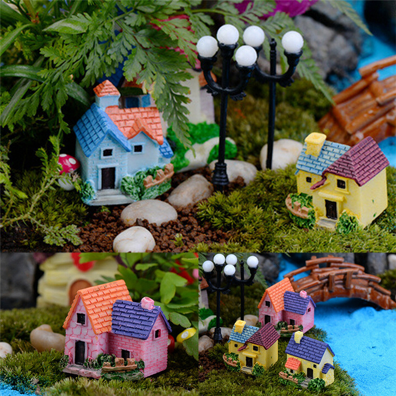 NEW 1Pc Mini House Garden Miniature Craft Micro Cottage Landscape Decoration For DIY Resin Crafts Wholesale