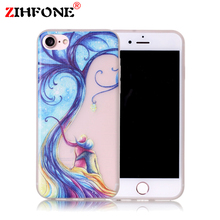 Case for iPhone 7 7 Plus Luminous Printed Shining Cases Cute Cartoon Soft TPU Back Cover Cases for iPhone 7Plus 7 Phone Bags