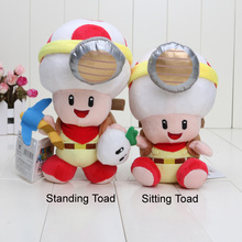 6pcs/lot 19-22cm Captain Toad Plush Toys New 2015 Super Mario Treasure Tracker Stuffed Plush Dolls