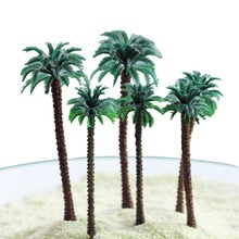 2pcs DIY Miniature Coconut Trees Modern Park Garden Miniatures Landscape Accessories Children KidsToys Doll House Decoration