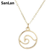 SanLan 10designs different Wave necklace beach nautical jewelry gift for women necklaces ocean vacation travel jewelry(China)