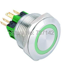 ELEWIND 28mm Ring illuminated push button switch(PM281F-11E/G/12V/S)