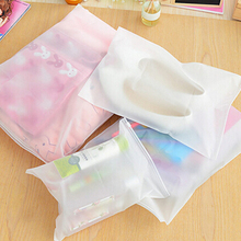 1 Pcs Transparent waterproof Clothes socks/underwear bra shoes storage bag travel Wash protect cosmetics plastic storage bag
