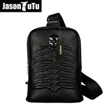 JASON TUTU New Listing messenger bag men leather casual men travel bags chest pack Genuine leather bag shoulder bag bolsos HN68