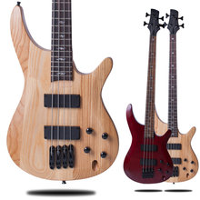 4 Strings Electric Bass Guitar Natural Maple Body Chinas Guitar Bass Free Shipping