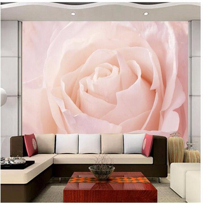 Custom photo wall murals pink roses art 3d living room sofa bedroom home decoration murals  3D  wall papers papel de parede<br><br>Aliexpress
