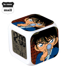 Detective Conan Case Closed LED Digital Alarm Clock reloj despertador de cabeceira Watch horloge digitale Square Plastic Toys