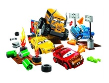 Hot Sale Pixar Cars 3 Lightning Juniors Smokey's Garage building blocks Educational Toys Compatible with Lego gifts