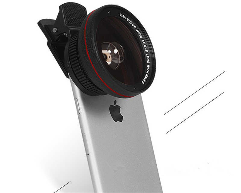 Professional 2in1 0.5X Super Wide Angle Lens 13.5X Super Macro Phone Lens Metal For iPhone 6S Plus SE Smartphone HD Camera Lens 11