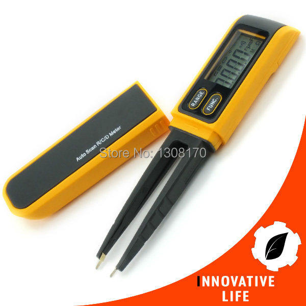 Pen type Digital R/C/D Auto Scan Steel Tips Tweezers Digital LCD Multimeter Meter SMD Diode Resistance Capacitance Tester<br><br>Aliexpress